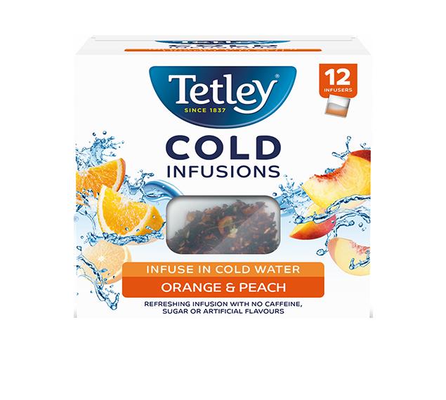 tetley cold infusions orange and peach tetley uk