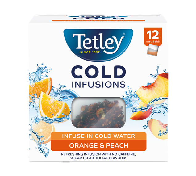 Tetley Cold Infusions Peach and Orange