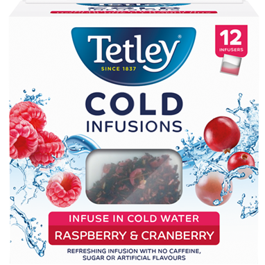 Tetley Cold Infusions Raspberry and Cranberry