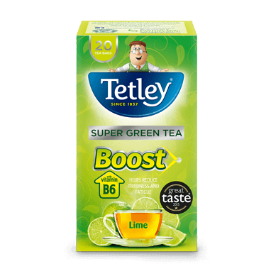 Tetley Super Green Tea Boost Lime